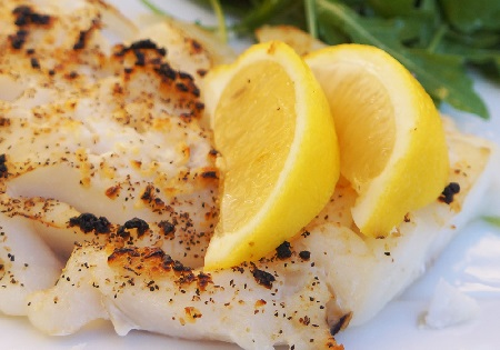 fish and lemon