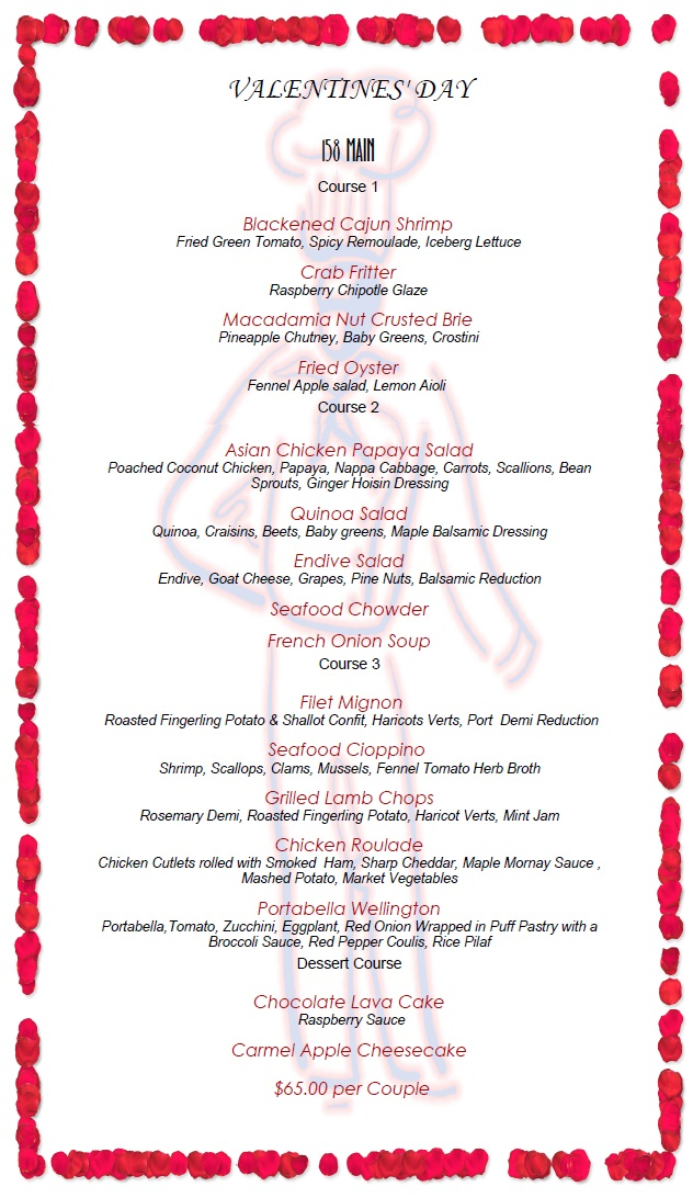 158 - valentine menu