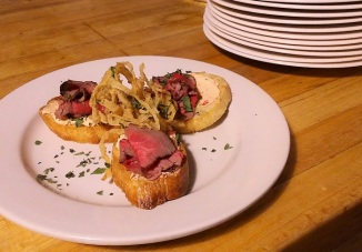 nye 2017 filet crostini