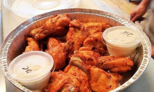chicken wings at jeffersonville pizza department