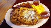 french toast and sausage breakfast at 158 main restaurant