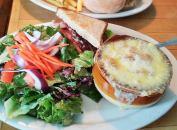 soup and salad at 158 main restaurant