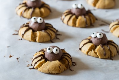Chocolate PB Spider Cookies, from A Spicy Perspective
