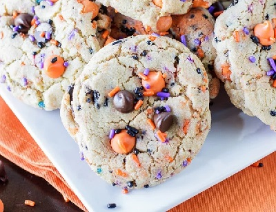 Oreo Funfetti Cookies, from Deliciously Sprinkled