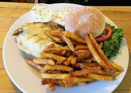 fresh catch sandwich at 158 main restaurant - jeffersonville vt